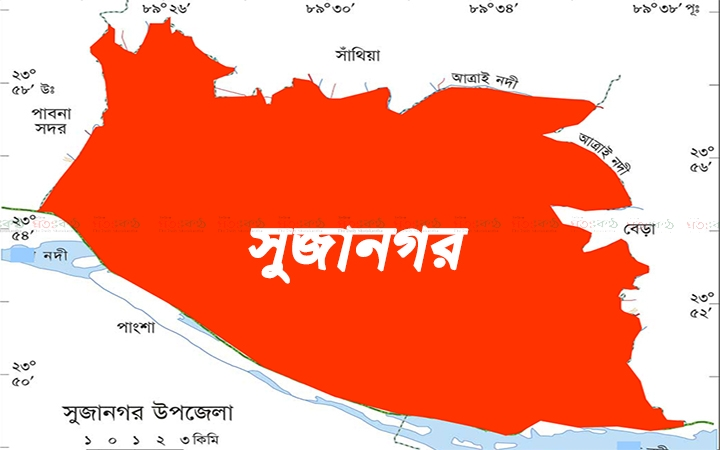 Sujanagar+Upazila+Map