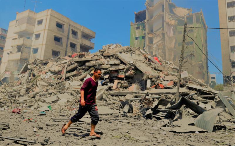gaza distruction.daily shatakantha