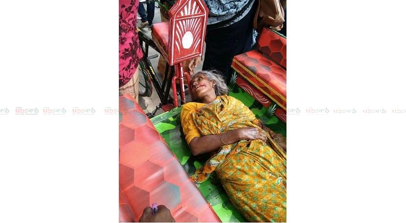 গাইবান্ধার সুন্দরগঞ্জে ভ্যান - ট্রাকের মুখোমুখি সংঘর্ষে নিহত -১